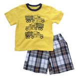 Thời trang trẻ em : Bộ Place size đại - xe công nông