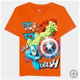 Thời trang trẻ em : Áo đại Marvel 19 - Màu Cam