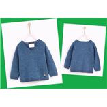 Áo len chui đầu CỔ TIM Zara - xanh coban