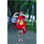 Thời trang trẻ em : Váy vẽ cách tân 004