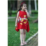 Thời trang trẻ em : Váy vẽ thủ công 001