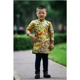 Thời trang trẻ em : Áo dài Xuân 2018 - Gấm rồng