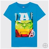 Thời trang trẻ em : Áo đại Marvel 19 - Màu Xanh Biển