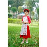 Thời trang trẻ em : Áo dài Xuân 2018 - Chớm xuân