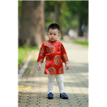 Thời trang trẻ em : Áo dài Xuân 2018 - Xuân đỏ