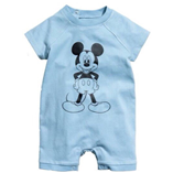 Thời trang trẻ em :  Body suit đùi H&M - Mickey xanh