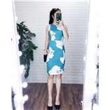Thời trang trẻ em : Váy suông CK NL- Xanh ngọc