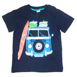 Thời trang trẻ em : Áo thun Palomino - Xe cứu hỏa xanh đen