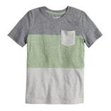 Thời trang trẻ em : Áo Jumping Beans bé trai - Sọc Xám Xanh lá